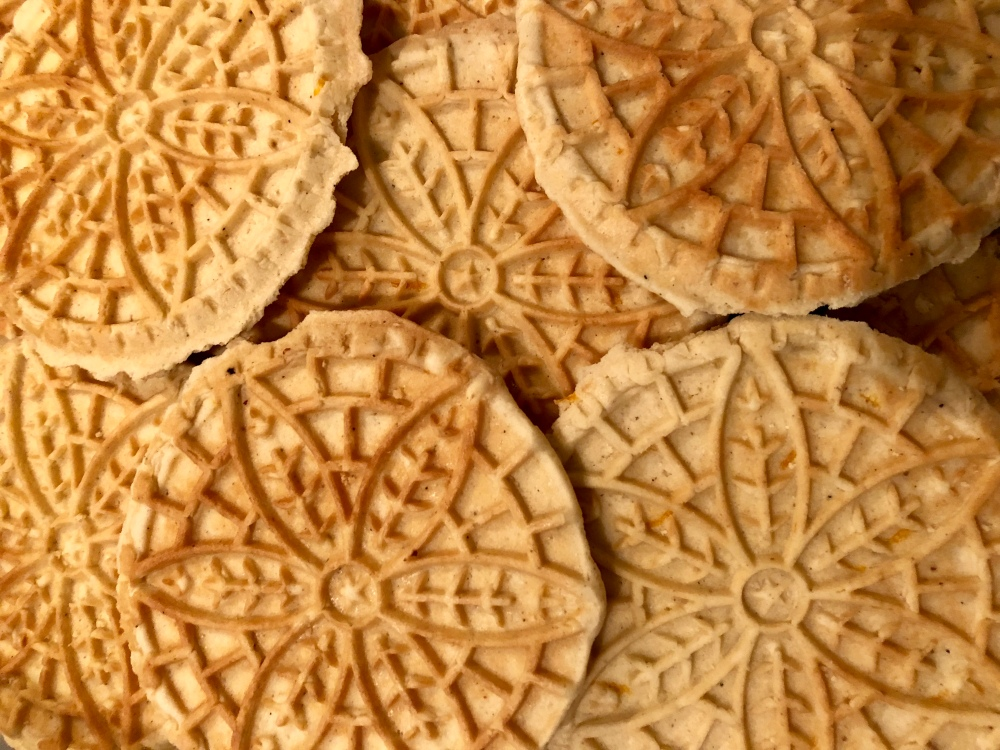 Orange Cardamom Bratsel Cookies